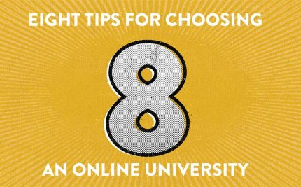 eight tips for online university