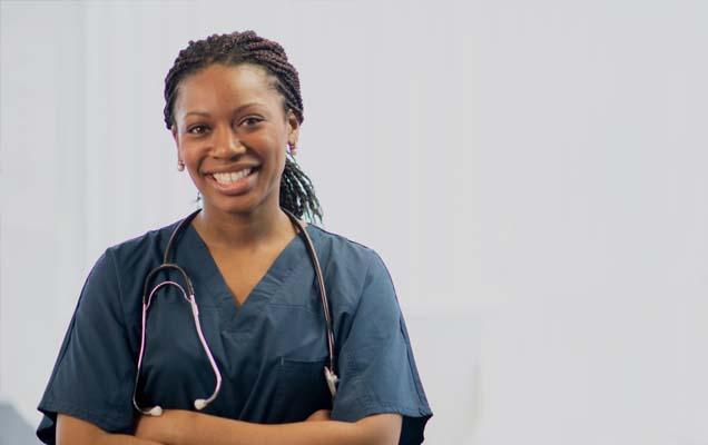 LIZZIE: Smiling madame nurse