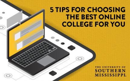 vector art of a computer for the Tips for Choosing an Online College blog