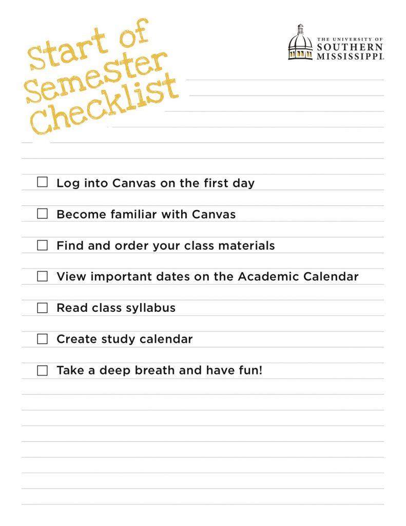start-of-semester-checklist