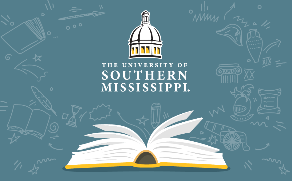 USM logo with book pages