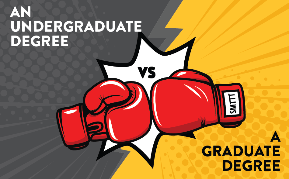 undergraduate degree vs graduate degree image