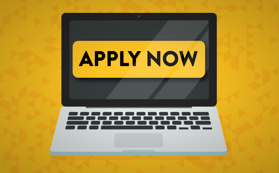 laptop with apply now on the screen image for the how to apply to southern miss blog